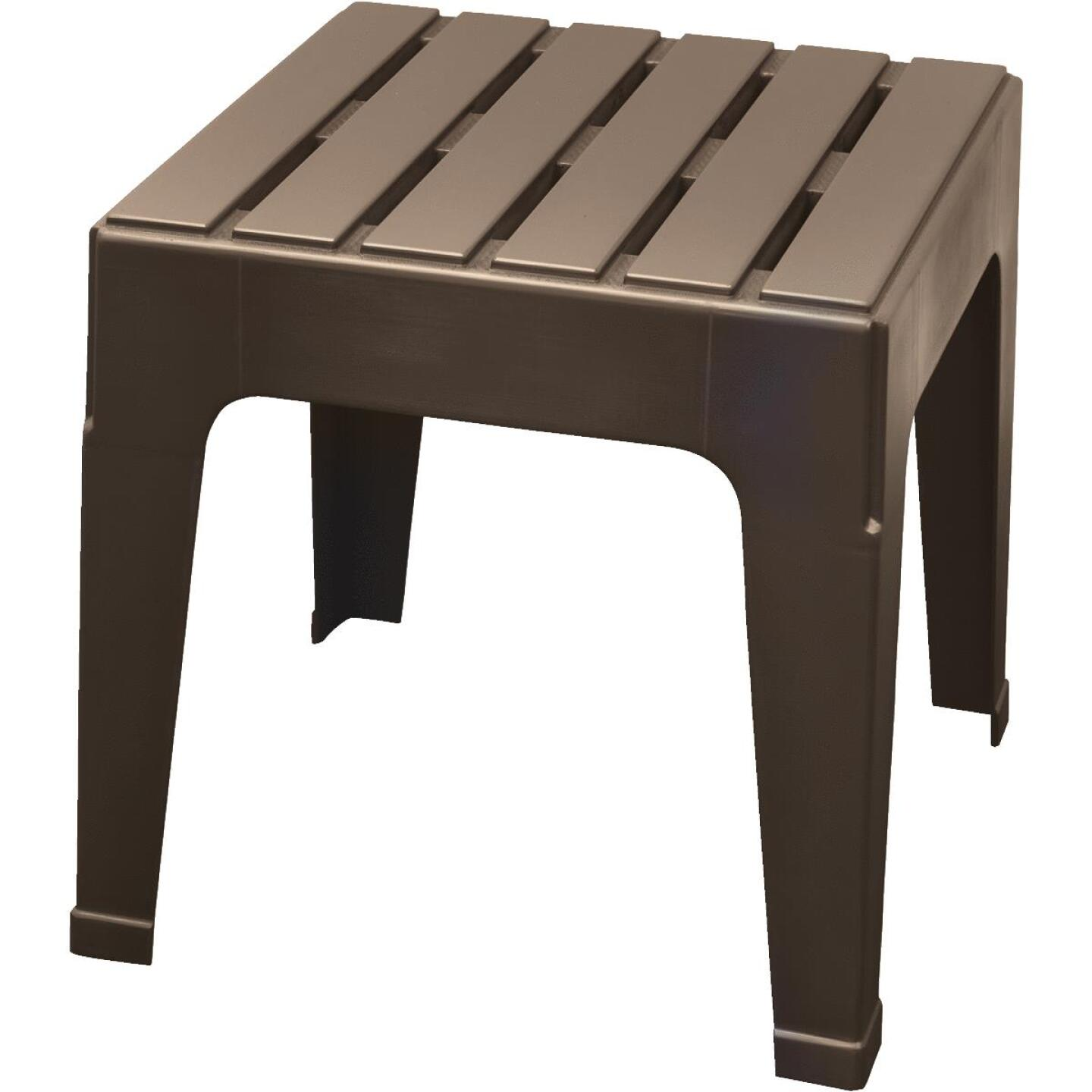 Adams Big Easy Earth Brown 18.9 In. Square Resin Stackable Side Table Image 1