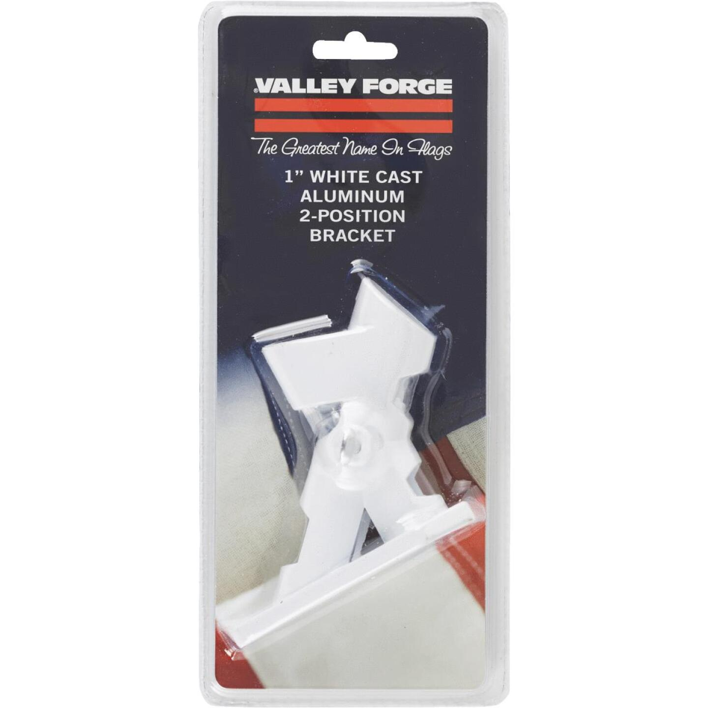 Valley Forge 2-Position 1 In. Cast Aluminum White Flag Pole Bracket Image 2