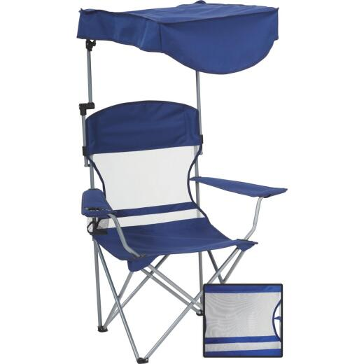 Outdoor Expressions Blue Polyester Omni-Directional Canopy Camp Chair