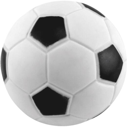 Westminster Pet Ruffin' it 2-3/4 In. W. x 2-3/4 In. H. x 2-3/4 In. L. Squeaky Soccer Ball Vinyl Dog Toy