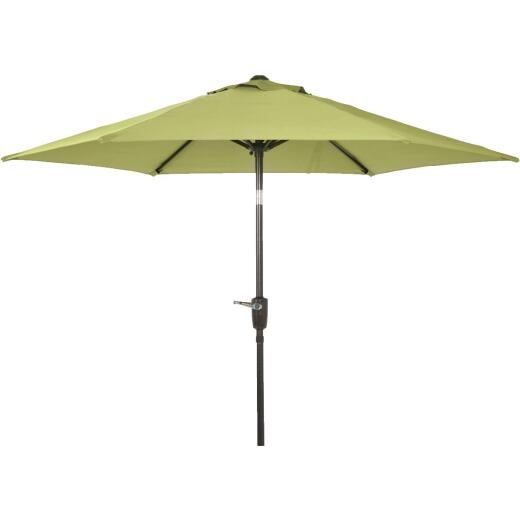 Outdoor Expressions 7.5 Ft. Aluminum Tilt/Crank Sage Patio Umbrella