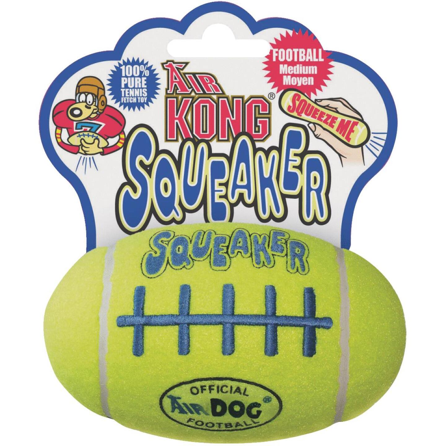 Air Kong Squeaky Medium Football Dog Toy Image 1