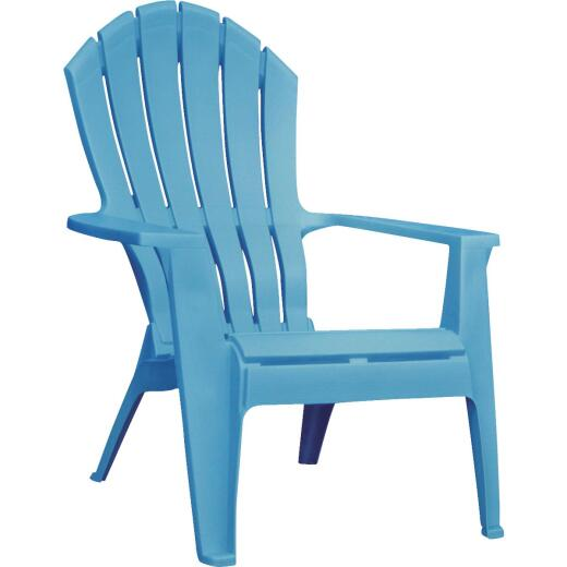 Adams RealComfort Pool Blue Resin Adirondack Chair