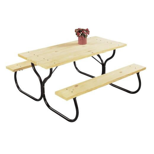 Jack Post Black Steel Picnic Table Frame