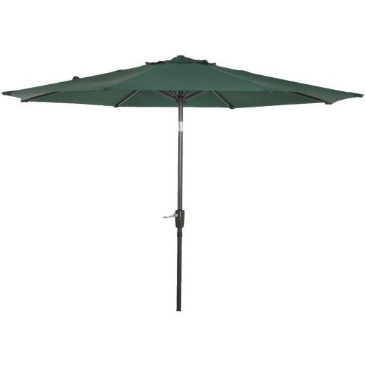 Outdoor Expressions 9 Ft. Aluminum Tilt/Crank Green Patio Umbrella