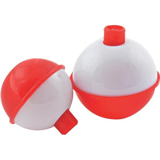 SouthBend 1-1/2 In. Red & White Push-Button Fishing Bobber Float (2-Pack)