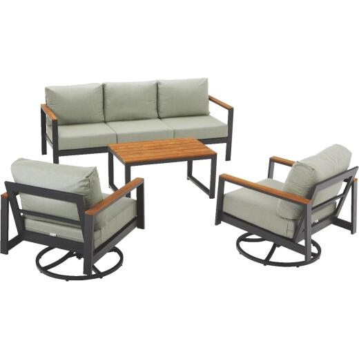 North Cape Hixon 4-Piece Chat Set with Cushions