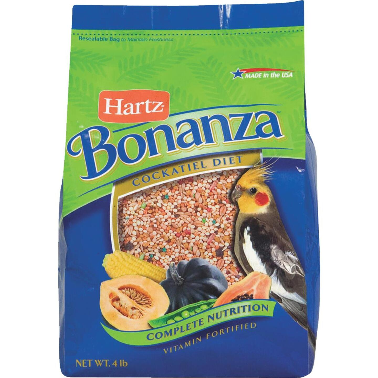Bonanza 4 Lb. Complete Nutrition Cockatiel and Medium Beak Gourmet Bird Food  Image 1