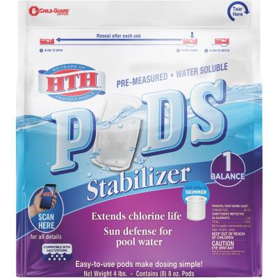 HTH 8 Oz. Pre-Measured Water Soluble Stabilizer Pods