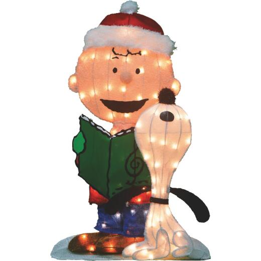 Product Works 32 In. Incandescent Caroling Peanuts Holiday Figure