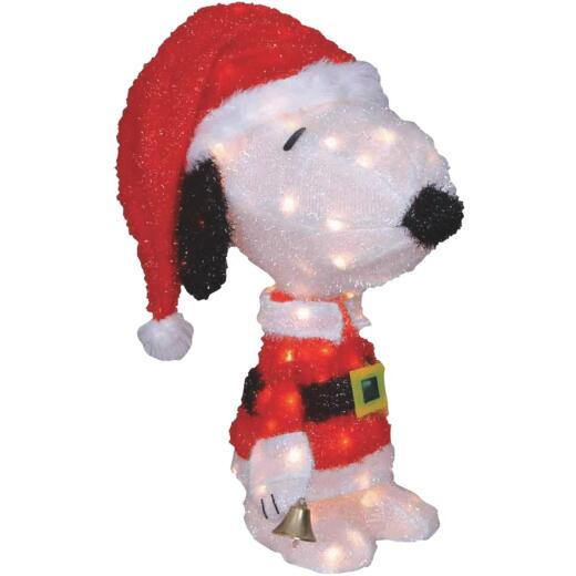 Product Works 26 In. Incandescent Illuminated Santa Snoopy Holiday Figure