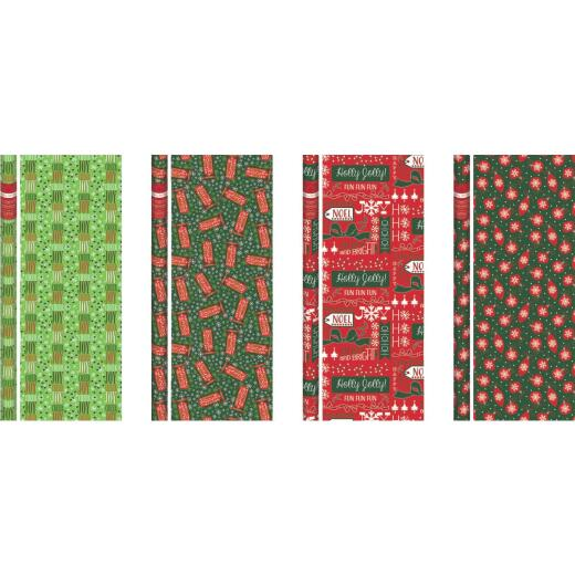 Paper Images Traditional 30 In. Christmas Gift Wrapping Paper