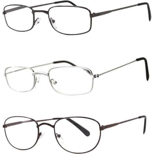 Axiom International 1.75 Diopter Metal Frame Reading Glasses